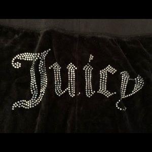 Juicy Couture black velvet pants